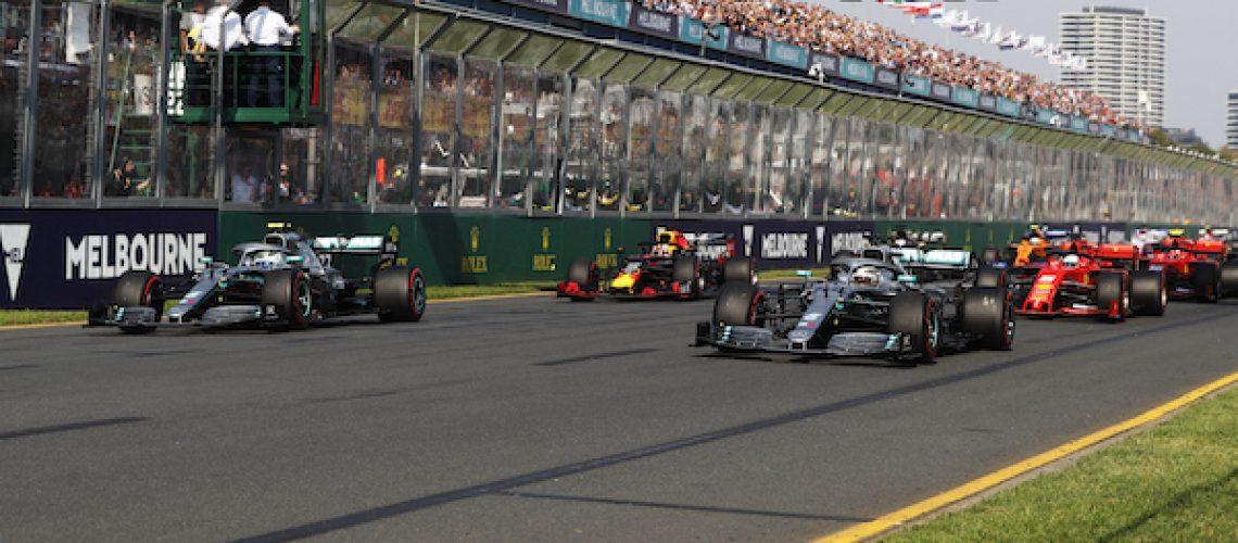 De start van de GP van Australië 2019
