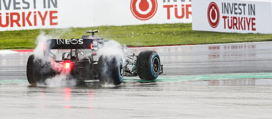Mercedes F1-bolide in Turkije
